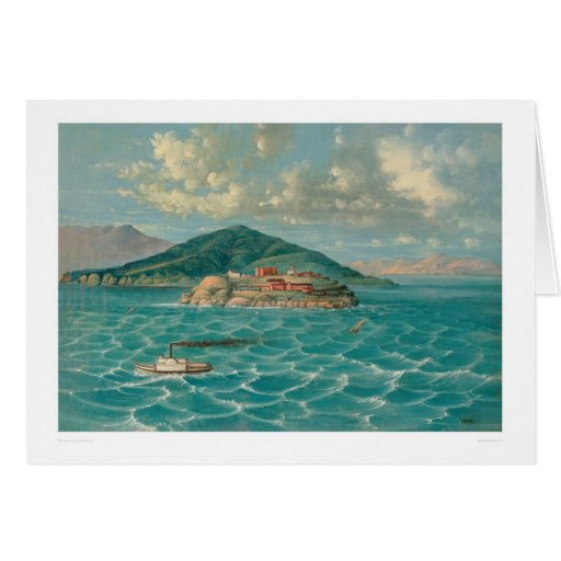 Alcatraz in San Francisco Bay (1856A) Card