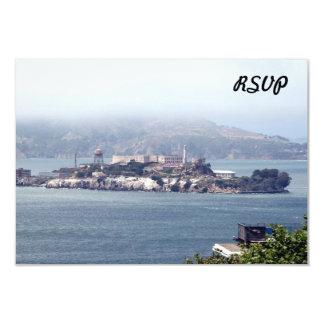 """Alcatraz Invitación 3.5"""" X 5"""""""