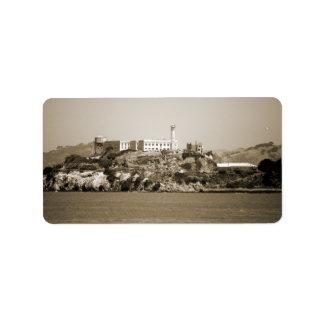 Alcatraz Island Personalized Address Label