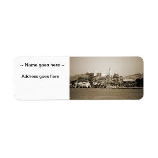 Alcatraz Island Custom Return Address Label