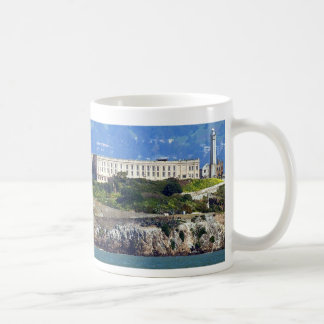 Alcatraz Island Prison San Francisco Panorama Classic White Coffee Mug