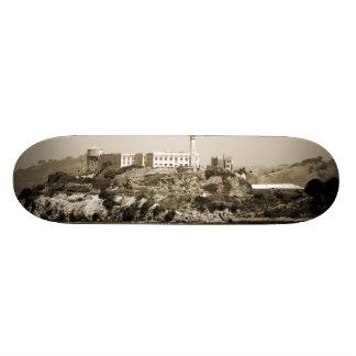 Alcatraz Island Custom Skate Board
