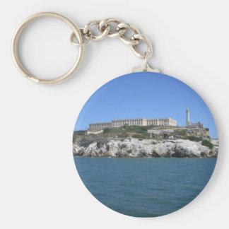 Alcatraz Basic Round Button Keychain