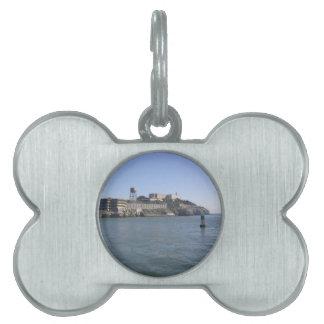 Alcatraz (la roca) del agua de San Francisco Placas Mascota