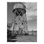 ALCATRAZ PENITENTIARY WATER TOWER POSTER