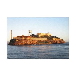 Alcatraz Prison Stretched Canvas Print