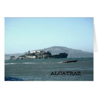 Alcatraz prison greeting card