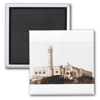 Alcatraz Prison (Sepia Tones) 2 Inch Square Magnet