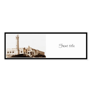 Alcatraz Prison (Sepia Tones) Double-Sided Mini Business Cards (Pack Of 20)