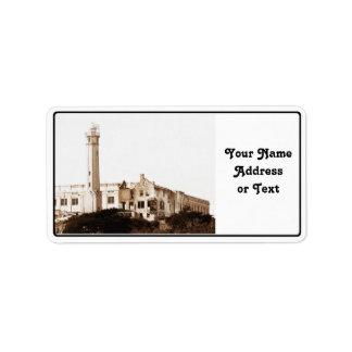 Alcatraz Prison (Sepia Tones) Custom Address Label