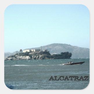 Alcatraz prison square sticker