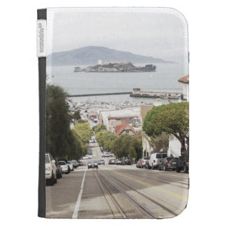 Alcatraz prison viewed from San Francisco Kindle Keyboard Cases
