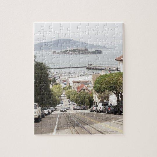 Alcatraz prison viewed from San Francisco Jigsaw Puzzle