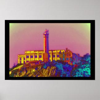 Alcatraz psicodélico póster