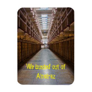 Alcatraz reventó hacia fuera el imán