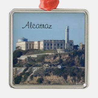 Alcatraz- San Francisco Adorno Navideño Cuadrado De Metal