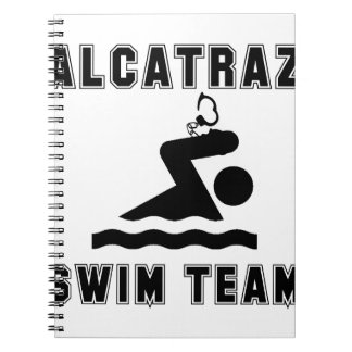 Alcatraz Swim Team Spiral Notebook