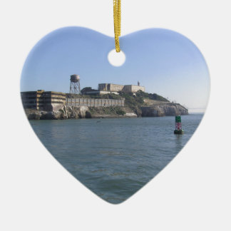 Alcatraz (The Rock) off the water of San Francisco Christmas Ornaments