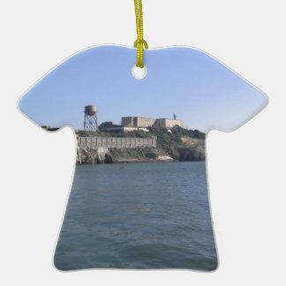 Alcatraz (The Rock) off the water of San Francisco Christmas Tree Ornament