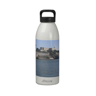 Alcatraz (The Rock) off the water of San Francisco Reusable Water Bottle