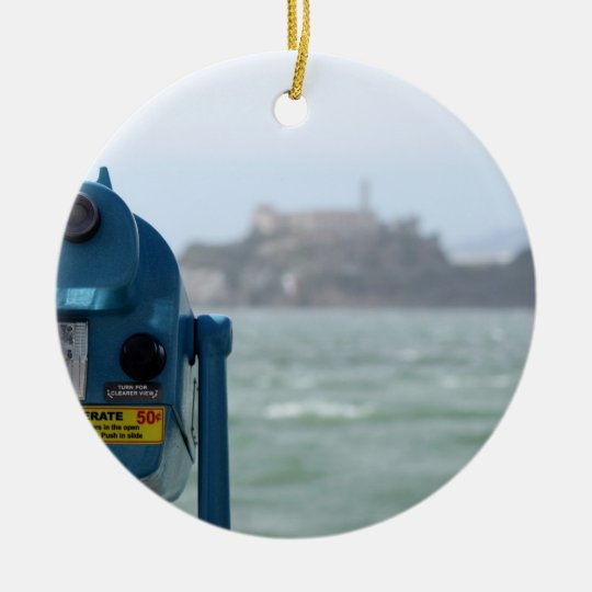 Alcatraz View Ceramic Ornament