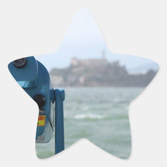 Alcatraz View Star Sticker