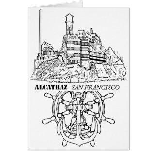 Alcatraz Wheel and Anchor Card