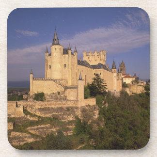 Alcazar and Cathedral, Segovia, Castile Leon, Beverage Coaster