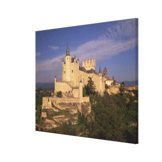 Alcazar and Cathedral, Segovia, Castile Leon, Canvas Print