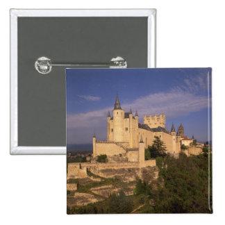 Alcazar and Cathedral, Segovia, Castile Leon, Pinback Button