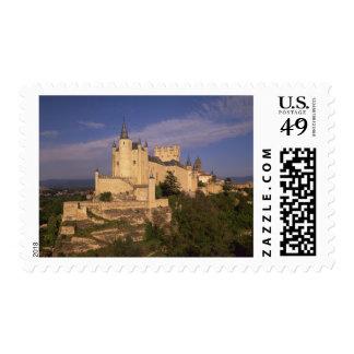 Alcazar and Cathedral, Segovia, Castile Leon, Postage Stamp