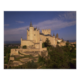 Alcazar and Cathedral, Segovia, Castile Leon, Poster