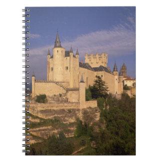 Alcazar and Cathedral, Segovia, Castile Leon, Spiral Notebook