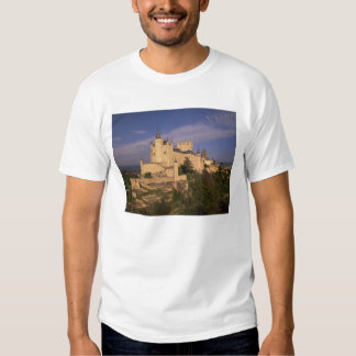 Alcazar and Cathedral, Segovia, Castile Leon, T-shirt