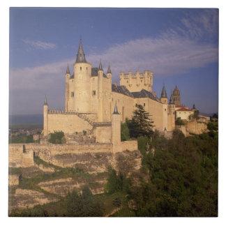 Alcazar and Cathedral, Segovia, Castile Leon, Tile
