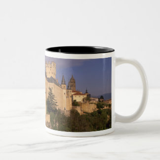 Alcazar and Cathedral, Segovia, Castile Leon, Two-Tone Coffee Mug