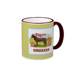 Alcazar el caballo de raza taza de café