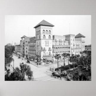Alcazar Hotel, St Augustine, la Florida, 1903 Póster