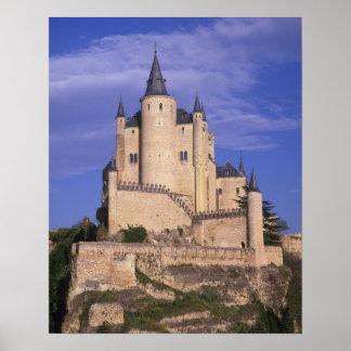 Alcazar, Segovia, Castile León, España, la UNESCO Póster