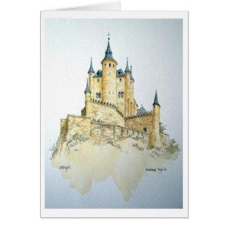 Alcazar Spain - watercolor greeting card.