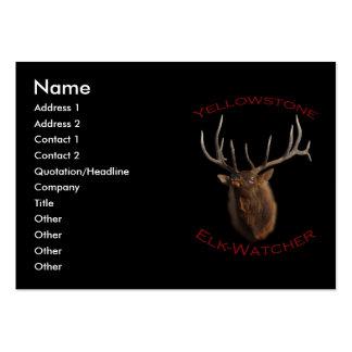 Alce-Vigilante de Yellowstone Tarjetas De Visita Grandes
