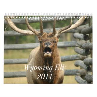 Alces 2011 de Wyoming Calendarios