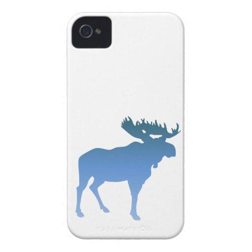 Alces azules iPhone 4 fundas
