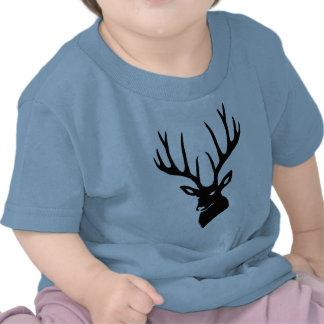 alces cervinos del ciervo de las astas de la asta camisetas