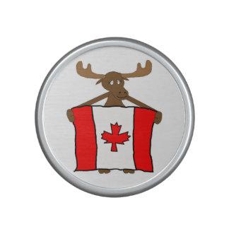 Alces con la bandera canadiense altavoz bluetooth