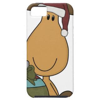 alces con navidad del sombrero de santa iPhone 5 cobertura