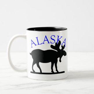 Alces de Alaska Taza De Café De Dos Colores