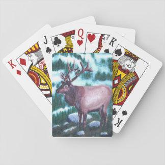 Alces de Bull Cartas De Póquer