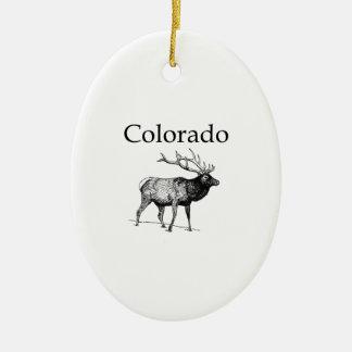 Alces de Colorado (línea arte) Ornamento De Navidad