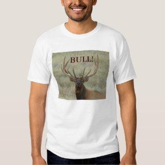 Alces de E0010 Bull en terciopelo Playera